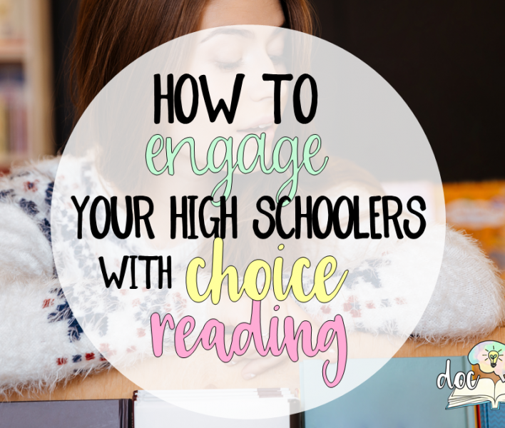 Learn how to engage your high schoolers with choice reading!