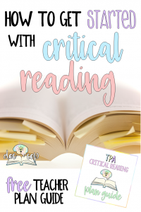 Critical reading is the key your students need to unlock deeper understanding. Learn how to get started and download your free plan guide!
