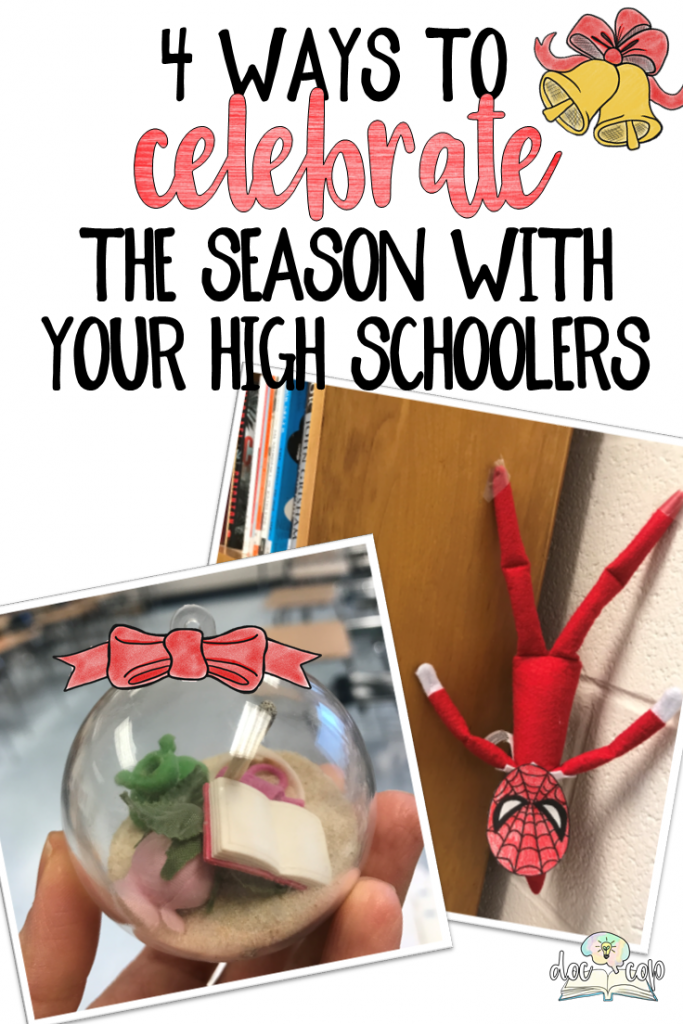 Celebrate the season with these four ideas that will spread holiday cheer while engaging your high schoolers in meaningful holiday fun!