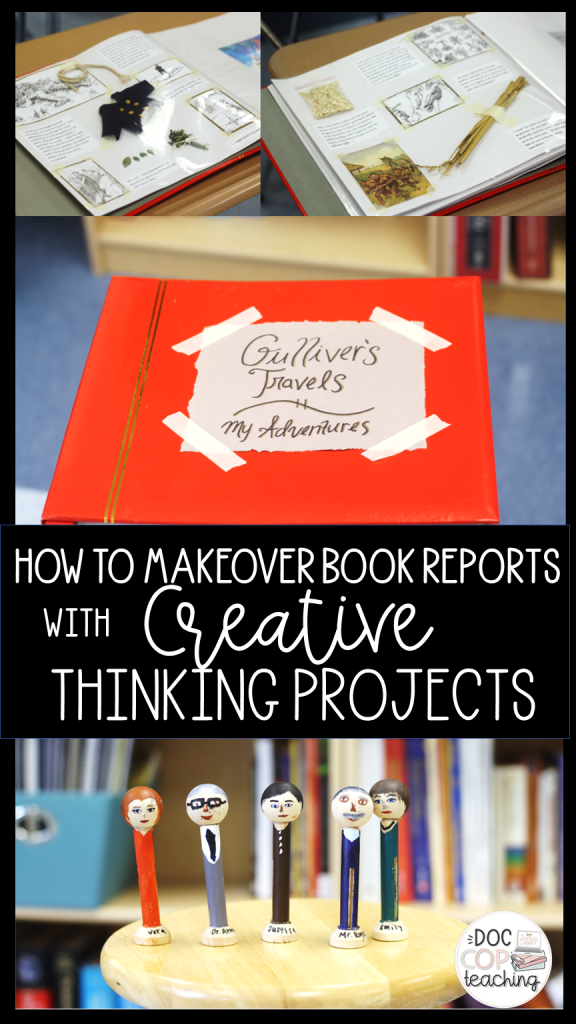 This post explains five steps to transform books report projects into higher-order project based learning. Real student examples of creative thinking project based assessments are included for a choice novel unit.