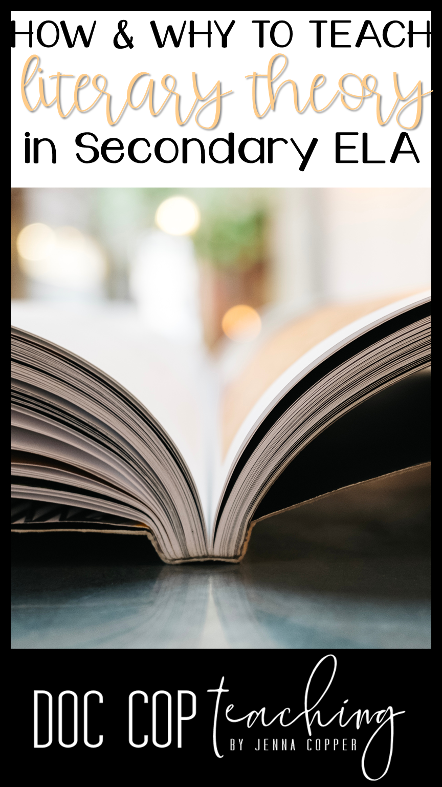"""Teaching literary theory doesn't have to be """"theoretical."""" Learn a simple system (and download a free plan guide) for creating literary lenses lessons that will empower your students to see new perspectives!"""