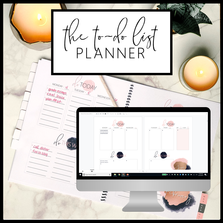 The To-Do List Planner will help you prioritize your to-do list so you can be productive and confident!