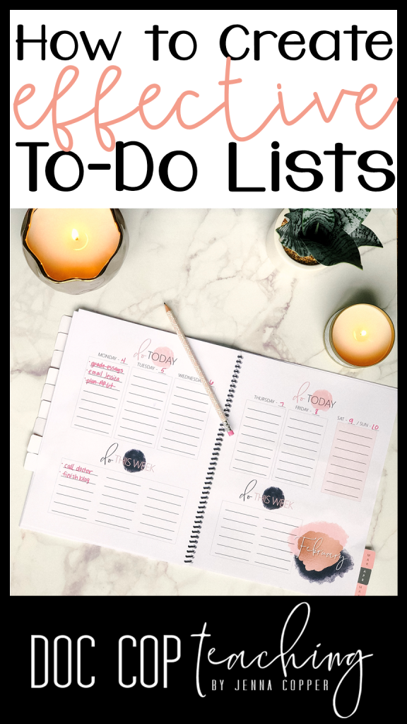 Learn a three-step to-do list strategy to get organized and productive!